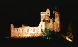 Castle Campbell at night